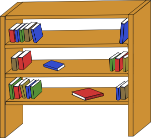 clipart royalty free stock Diverse books we all. Bookshelf clipart middle school