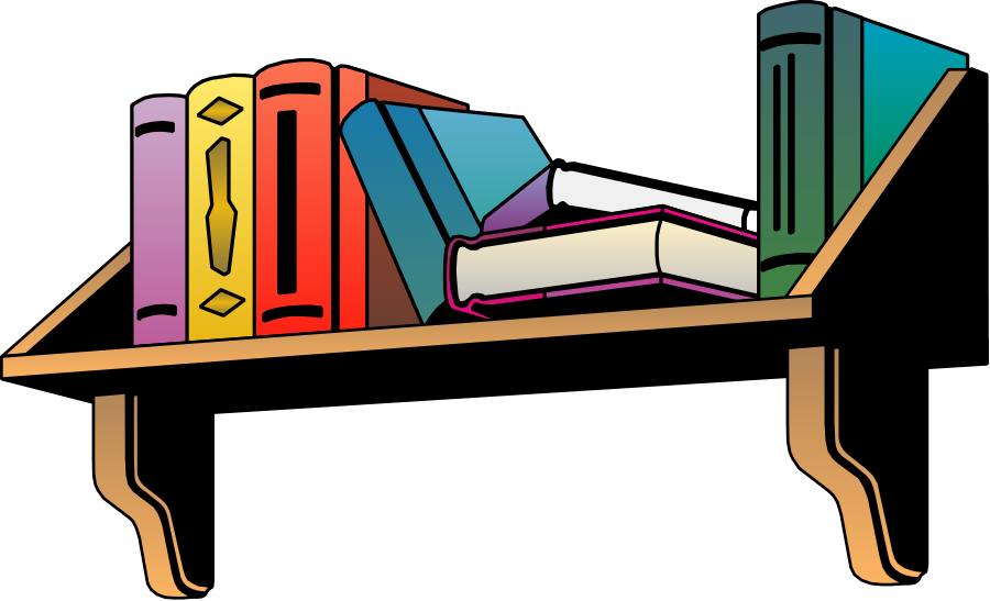 picture free Bookshelf vector book clipart.  collection of wall