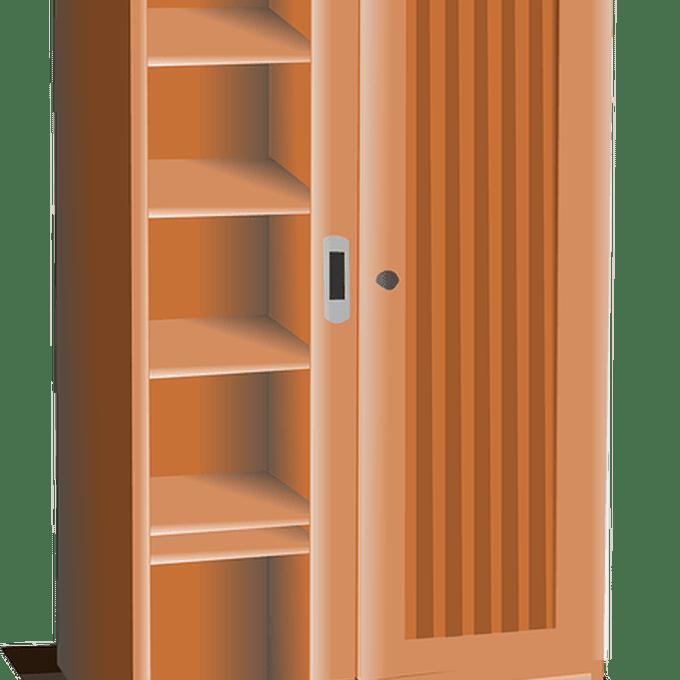 vector royalty free stock Bookshelf clipart wood cabinet.  clip art locker