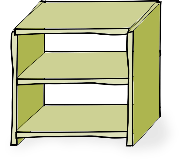 jpg transparent library Empty containers shelves clip. Bookshelf clipart wood cabinet