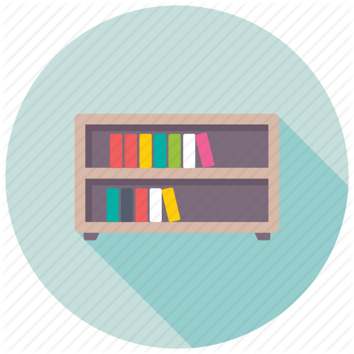 image royalty free Furniture by creative stall. Bookshelf vector book rack