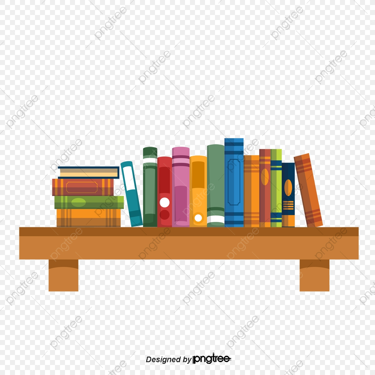 vector transparent download Bookshelf vector book shelf. Put the shelves clipart