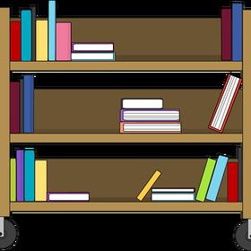 clip art download Bookshelf vector clipart. Illustration clip arts free