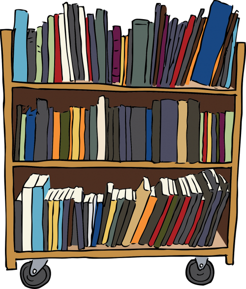 banner free library Bookcase furniture shelves horizontal. Bookshelf vector cupboard