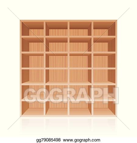 clip art freeuse library Bookshelf vector cupboard. Stock rack book shelf