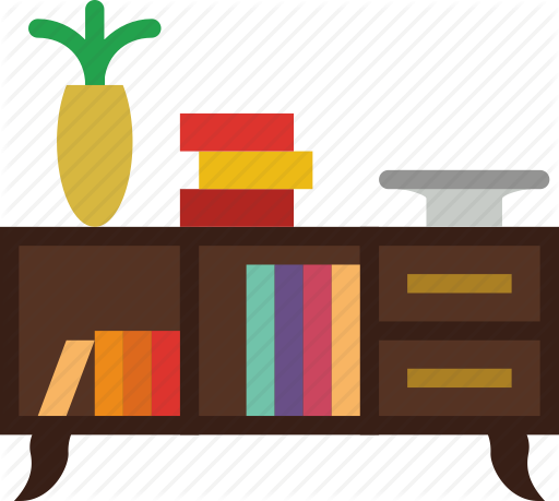 black and white library Smashicons households vol by. Bookshelf vector flat