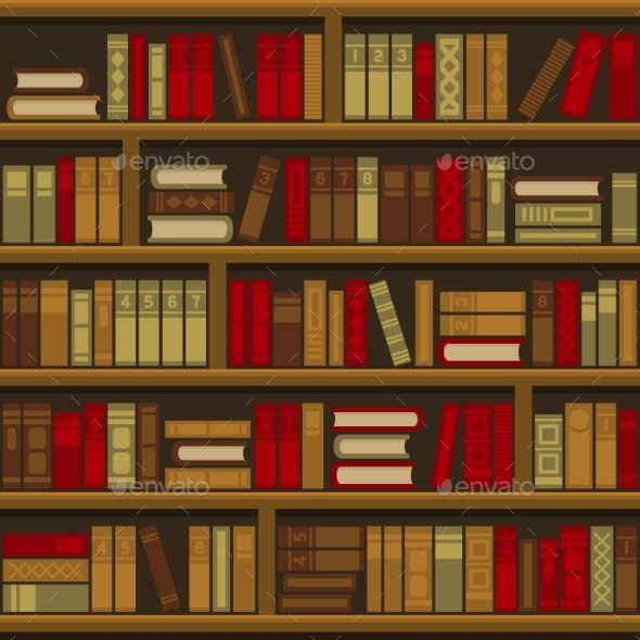 banner free download Bookshelf vector guide book. Library shelf seamless background