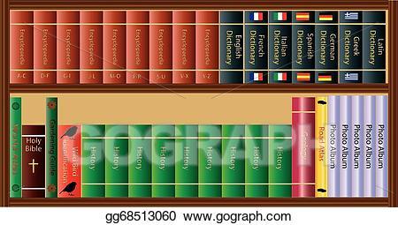 jpg library download Illustration eps clipart gg. Bookshelf vector guide book