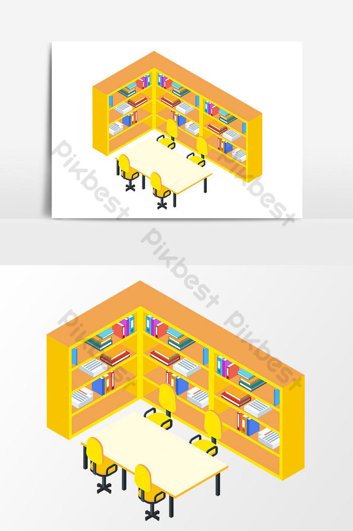 graphic royalty free stock Cartoon library elements . Bookshelf vector hand drawn