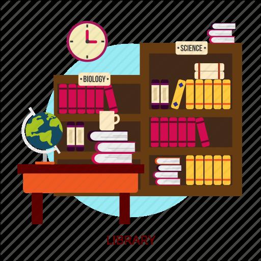 vector royalty free stock Bookshelf vector library logo design. Building interior by graphiqa