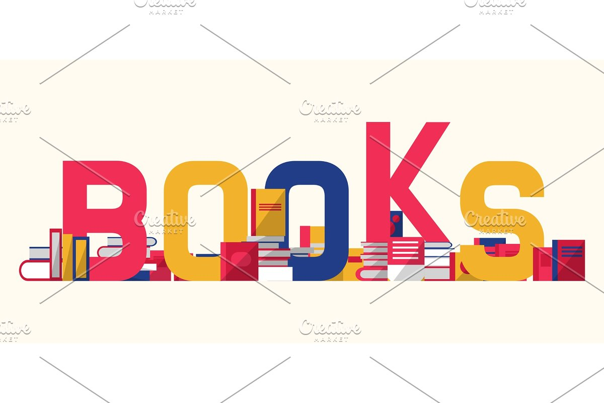 clip art stock Books and textbooks with. Bookshelf vector library logo design