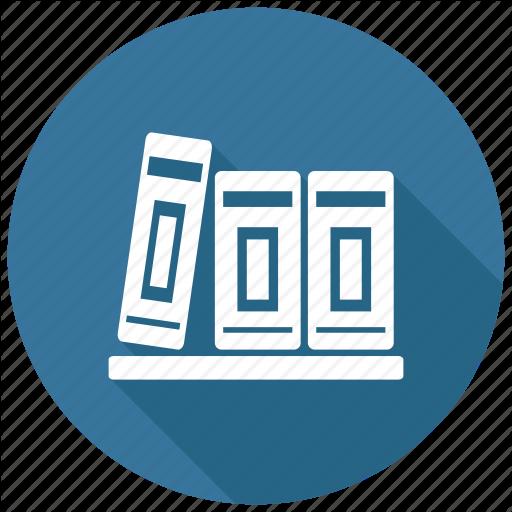 svg freeuse library Bookshelf vector library logo design. Education training long shadow