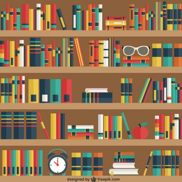 banner transparent download Pin on yearbook . Bookshelf vector library logo design