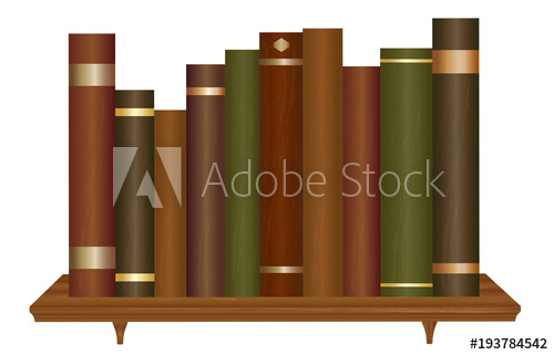 graphic transparent library Books on wooden buy. Bookshelf vector old
