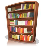 image black and white download Bookshelf vector old. Free art downloads