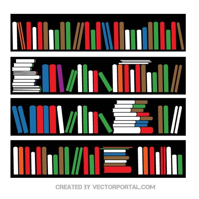 svg royalty free stock Bookshelf vector old. Image various free vectors