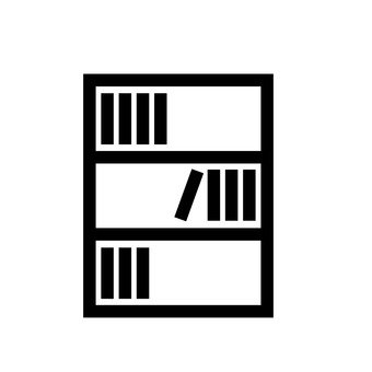 banner stock Bookshelf vector silhouette. Free silhouetteac