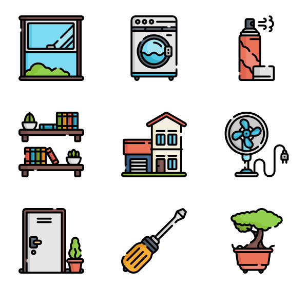 royalty free library Icons free homeware. Bookshelf vector silhouette