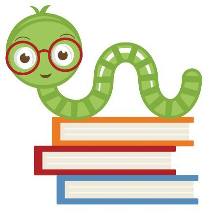 image Clip reading free art. Bookworm clipart