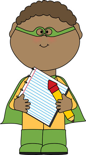 freeuse Clip art for teachers. Superhero kids clipart