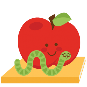 vector transparent library Bookworm clipart svg. Apple with freebies pinterest
