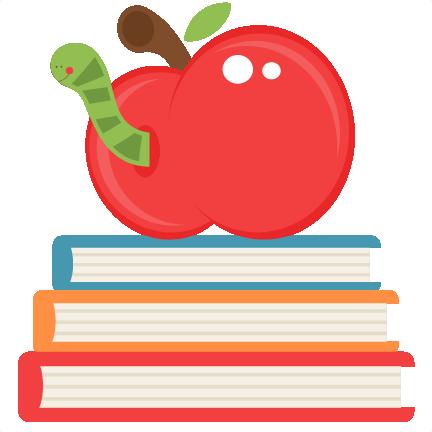 svg free download Apple on books scrapbook. Bookworm clipart svg