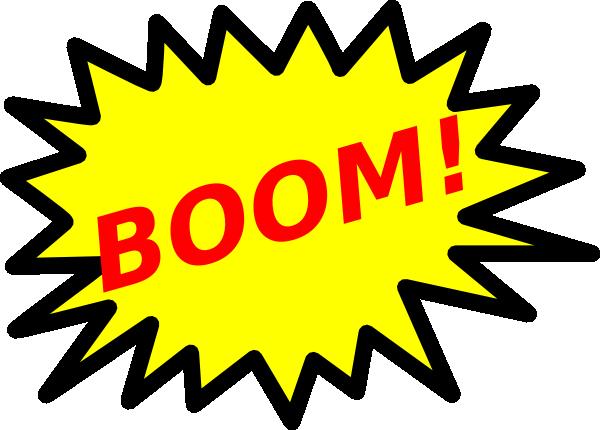 picture freeuse stock Boom clipart callout. Orange comic clip art
