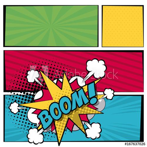 graphic download Boom clipart callout. Multicolored square banner in