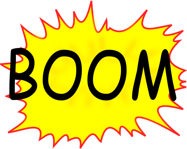 graphic black and white stock Boom clipart callout. Clip art at clker