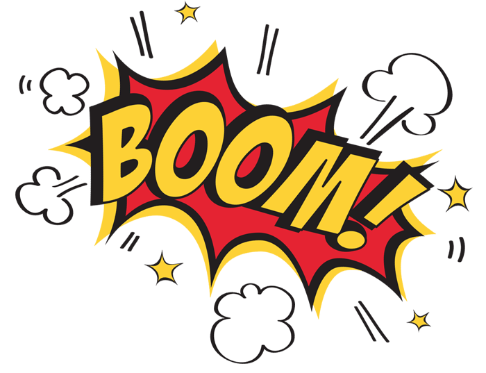 image black and white stock boom clipart comic strip #24731963