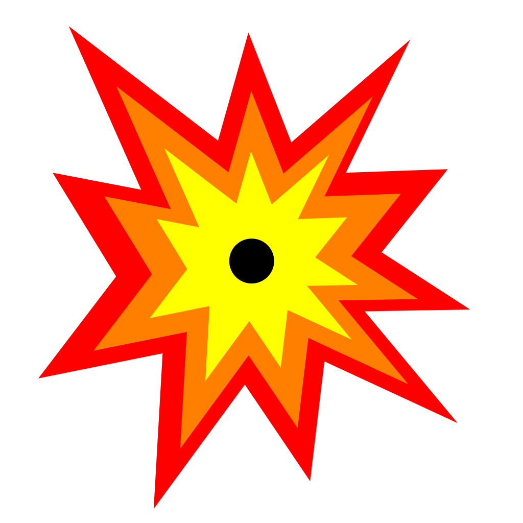 svg royalty free Boom clipart explosive. File explosion icon svg