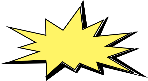 image black and white Big Yellow Explosion Clip Art at Clker