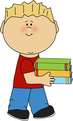 vector royalty free library Prissy Inspiration Little Boy Clipart Carrying A Stack Of Books Clip