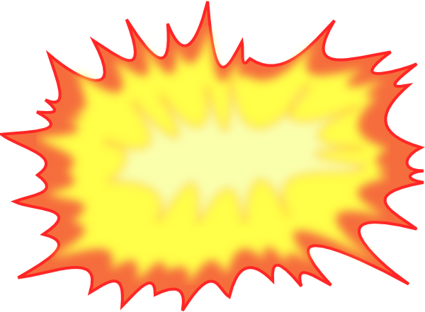 jpg library download Boom clipart rocket blast. Explosion clip art at.