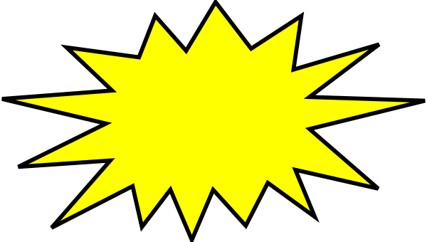 png royalty free library Yellow clip art at. Boom clipart rocket blast.