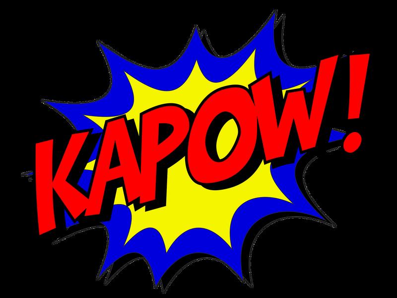 banner royalty free Boom clipart superhero. Pow zap it s