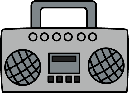 banner free library Free boom box cliparts. Boombox clipart