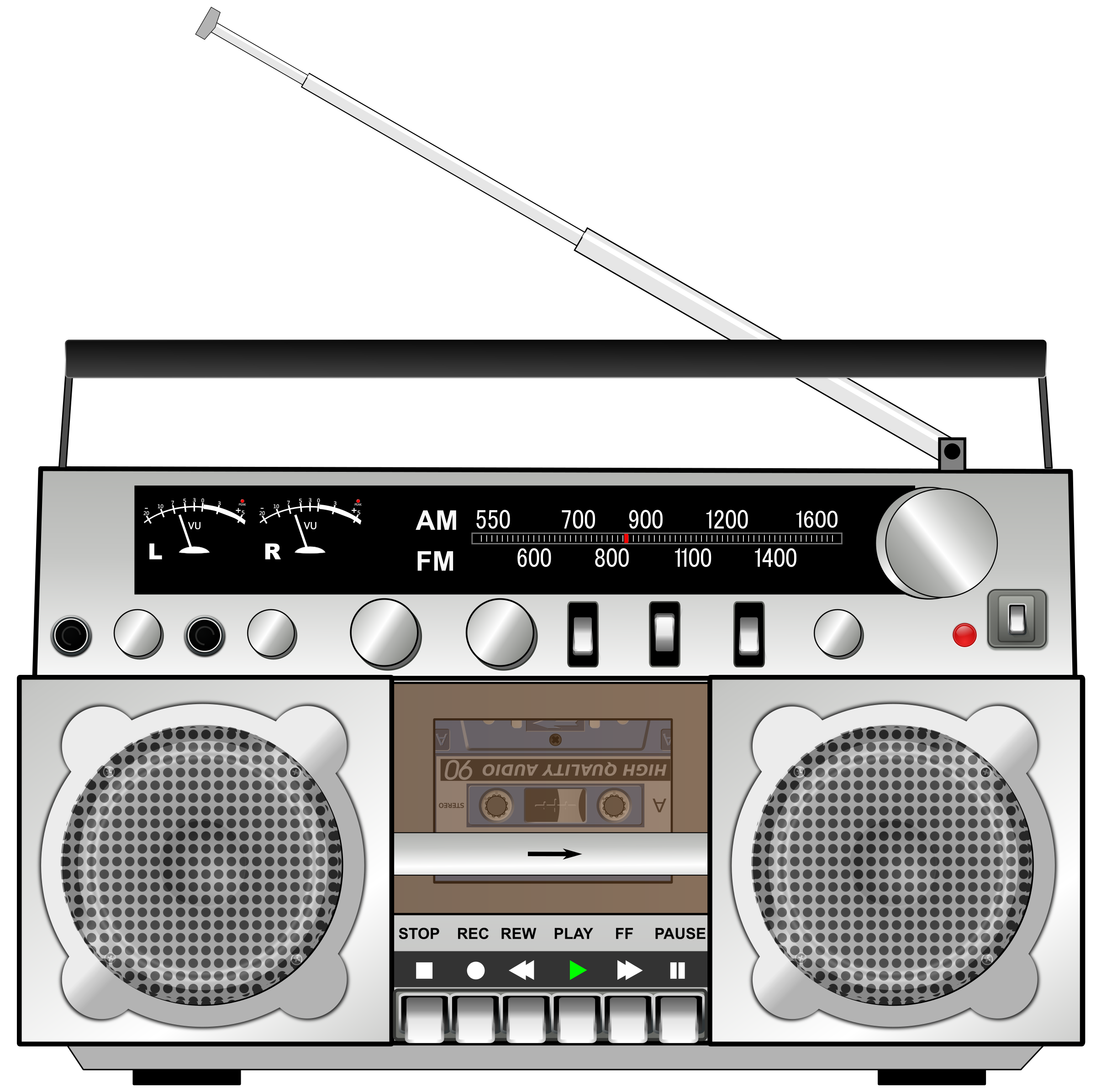 svg royalty free download Boombox clipart.