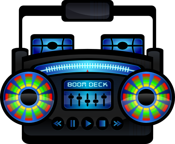 vector black and white download Mini boom box clip. Boombox clipart