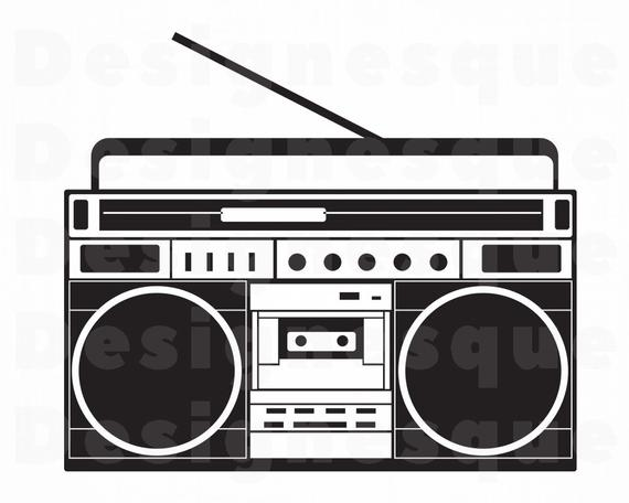 free stock Radio svg files for. Boombox clipart