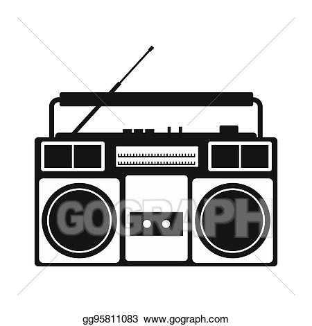 graphic free stock Simple icon stock illustration. Boombox clipart