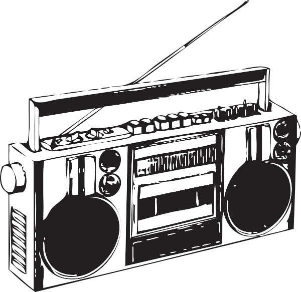 image freeuse library Boombox clipart. Clip art at clker