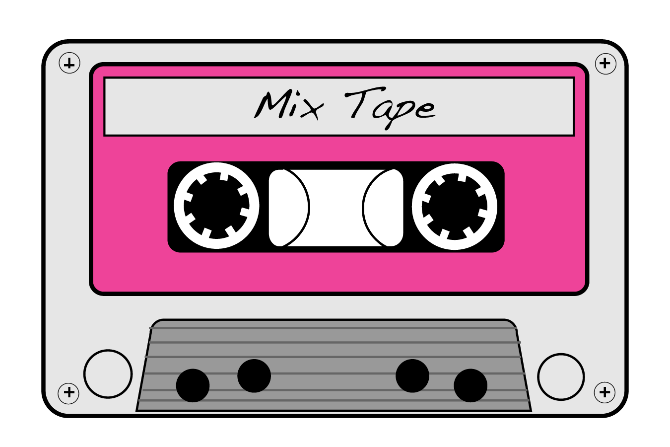 jpg black and white download boombox clipart 90's #76770567