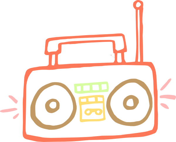 clip black and white download Boombox Clip Art at Clker