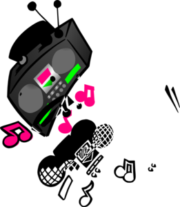svg royalty free download Boombox clipart cartoon. Clip art at clker