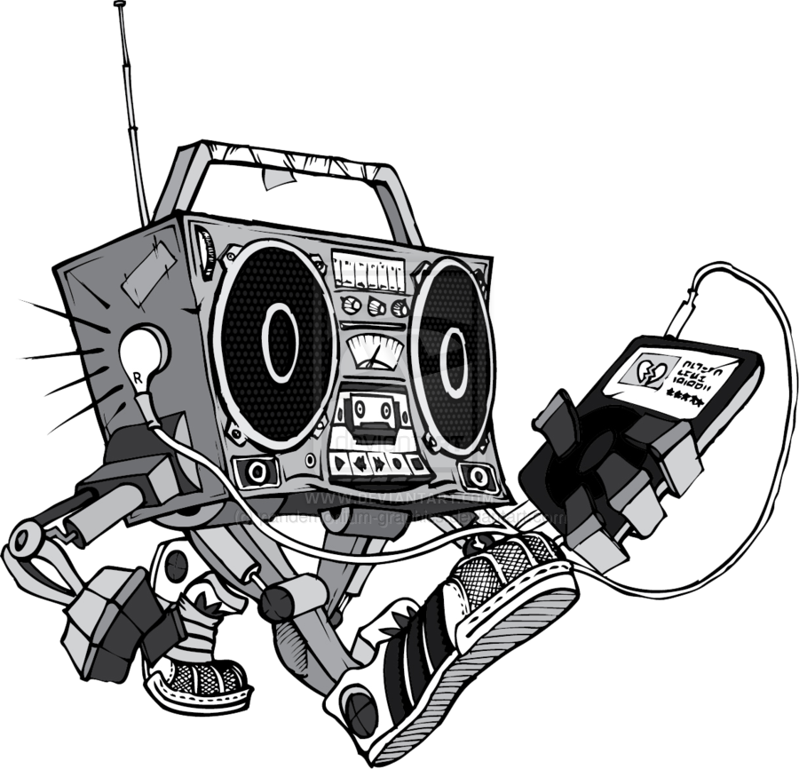 clip Deviantart more like dirty. Boombox clipart draw something
