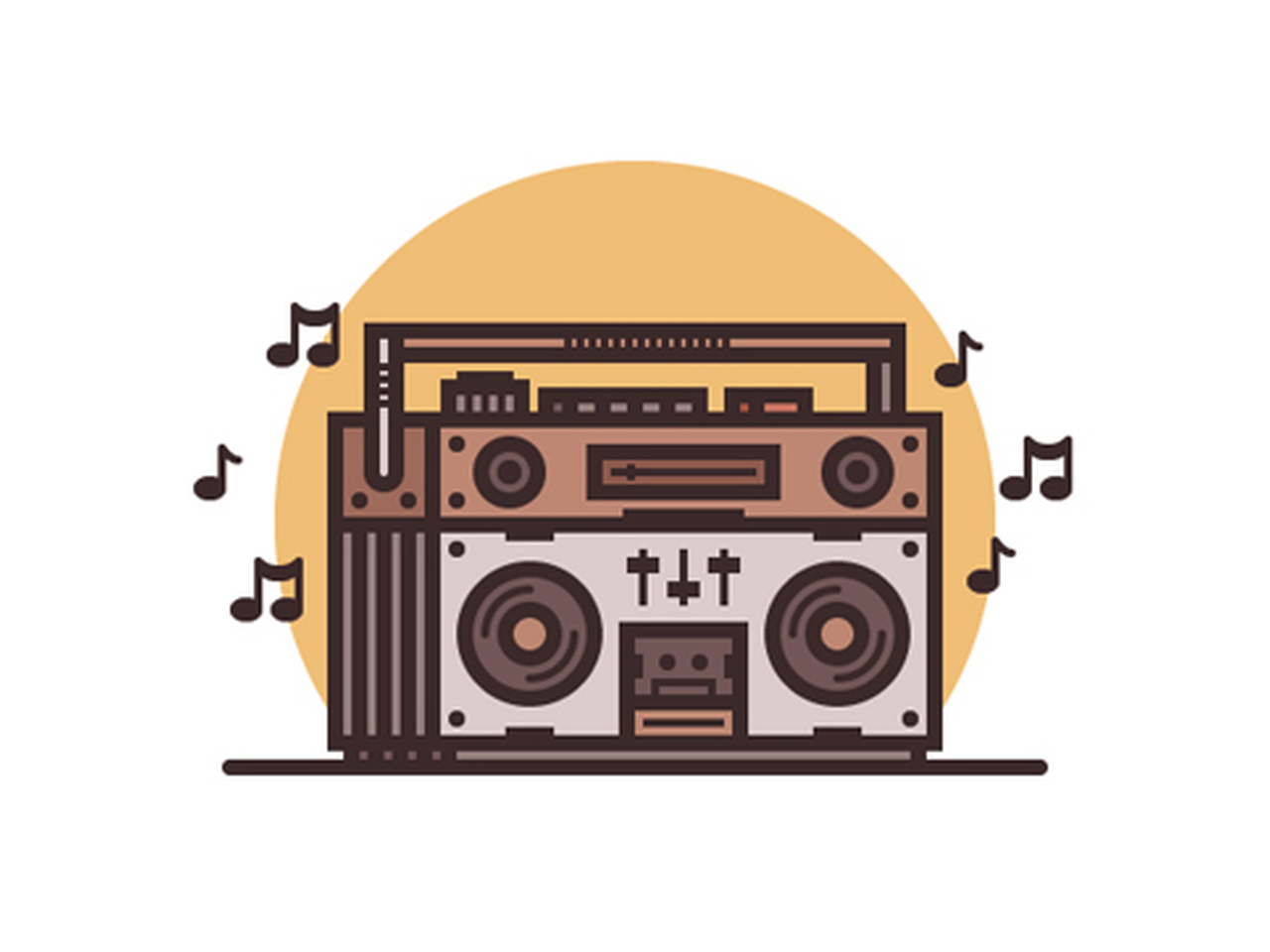 svg black and white stock Boombox clipart draw something. How to create a