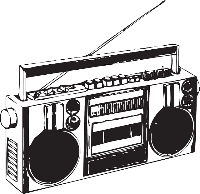 svg royalty free download Cool vector also reminds. Boombox clipart draw something