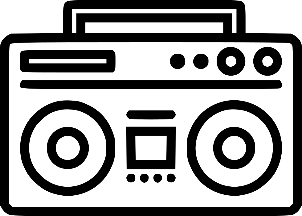 clip art download Svg png icon free. Boombox clipart draw something