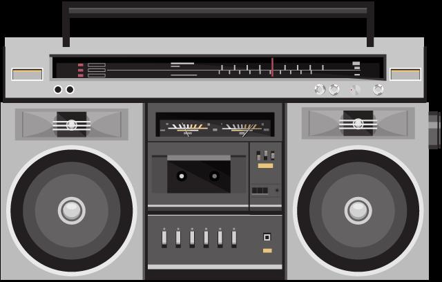 image black and white stock Radio Clipart fm radio